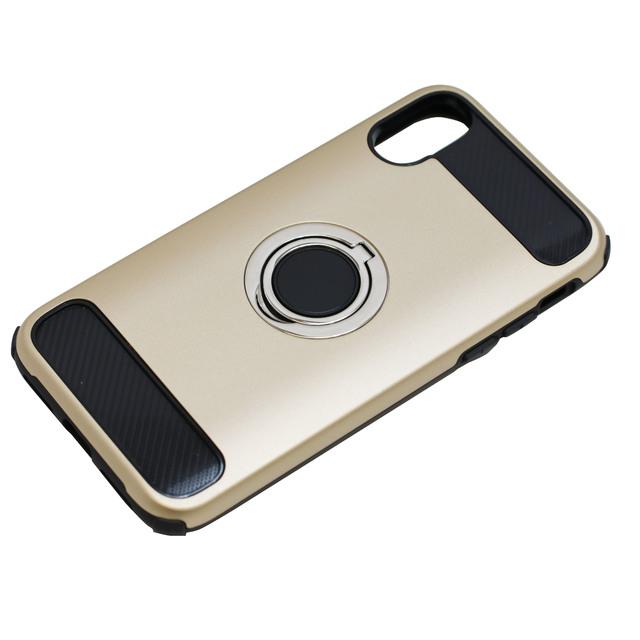 iPhoneX用ジャケット リング付き 耐衝撃